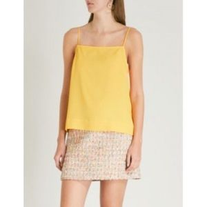 Topshop Yellow Square Neck Tank